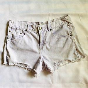 Free People cutoff denim light wash shorts size 29